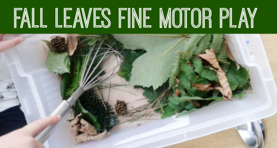 Fall Leaves Fine Motor Play