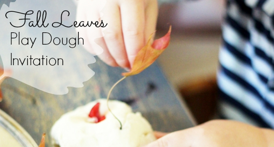 Fall Leaves Play Dough Invitation