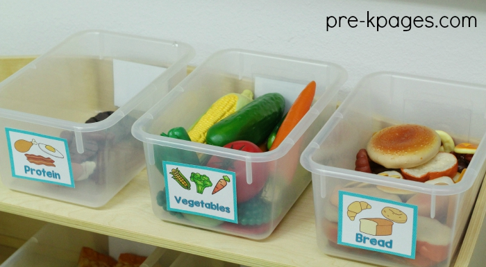 Labels for Pretend Play Food