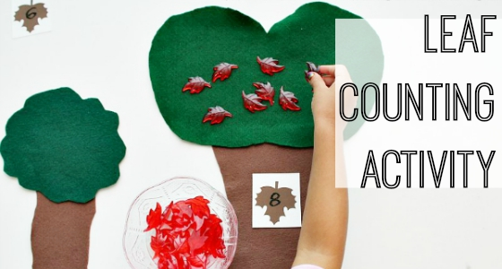 Fall Leaf Counting Activity