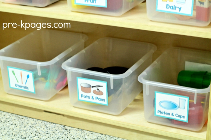 Organize Your Pretend Play Kitchen