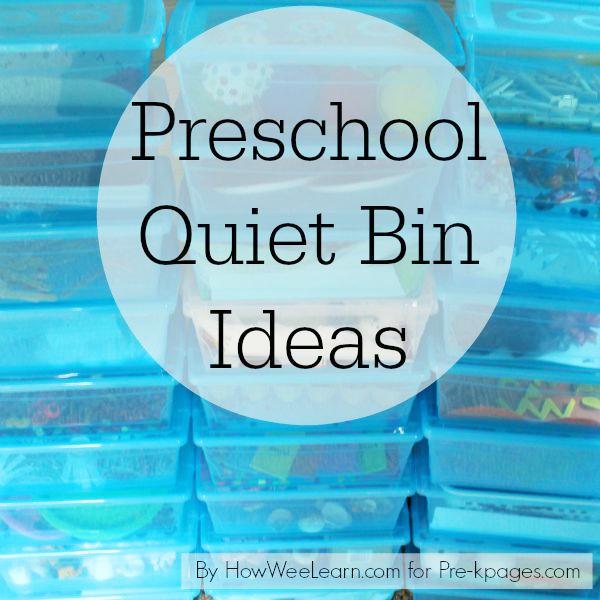 preschool quiet bin ideas