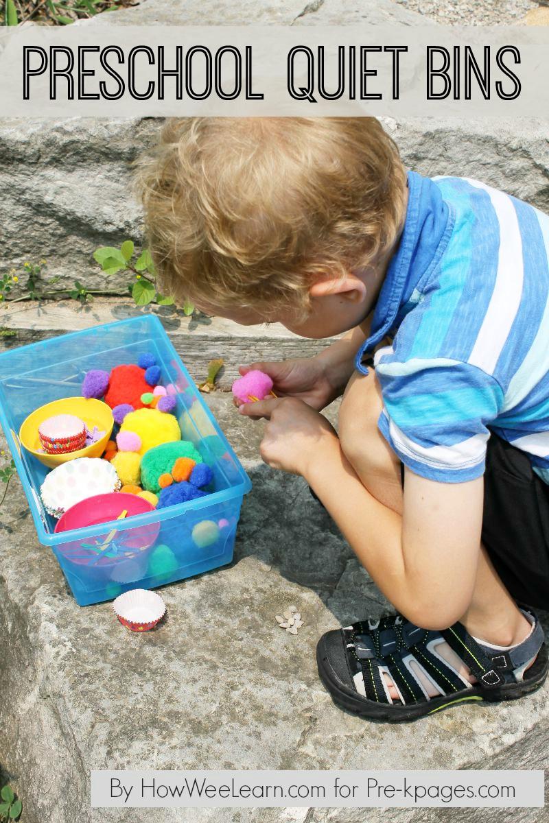preschool quiet bins