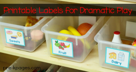 Dramatic Play Printable Labels