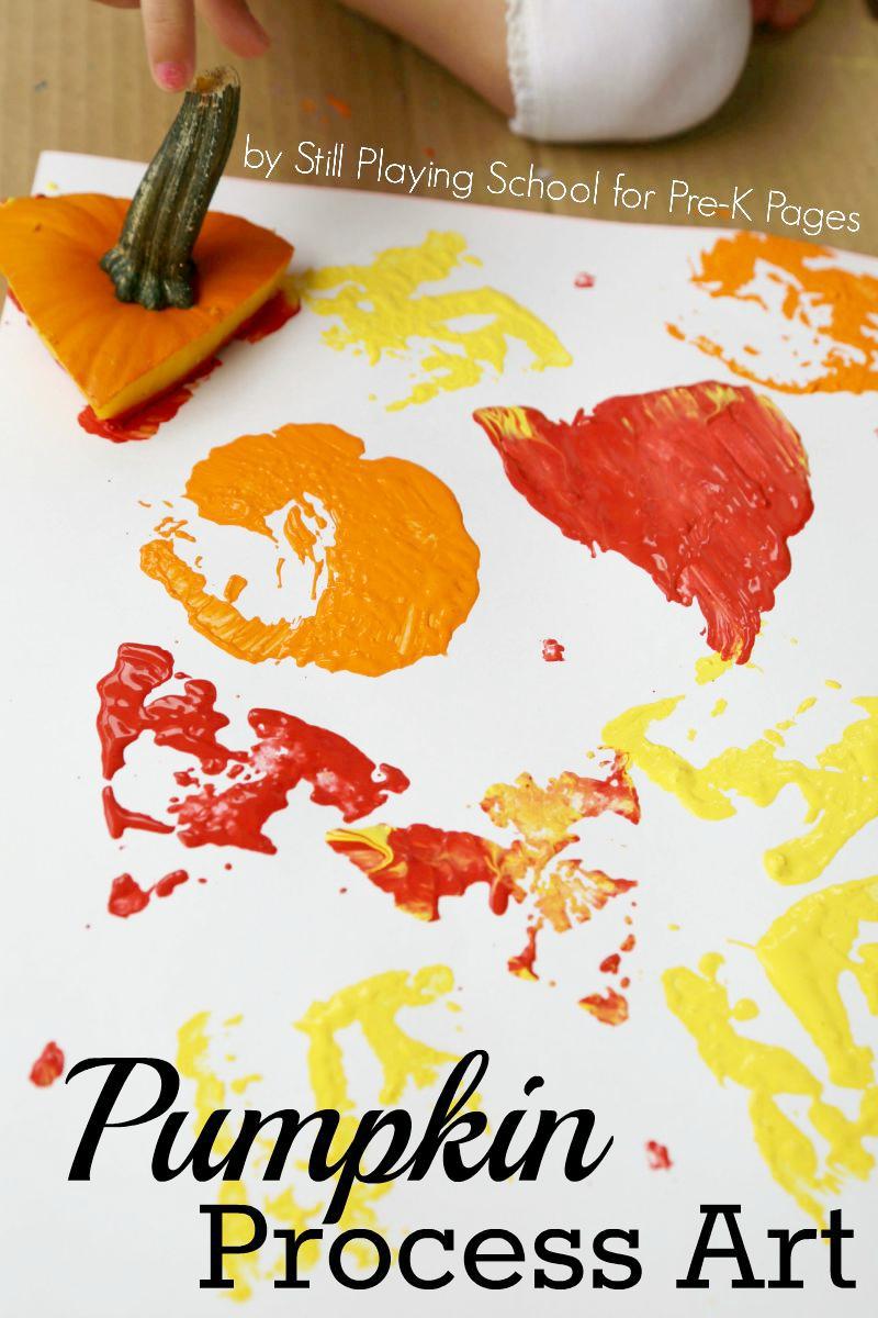 It's just an image of Delicate Pumpkin Artwork Preschool
