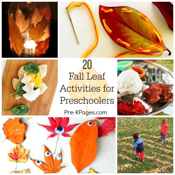 20 Fall Leaf Activities for Preschoolers