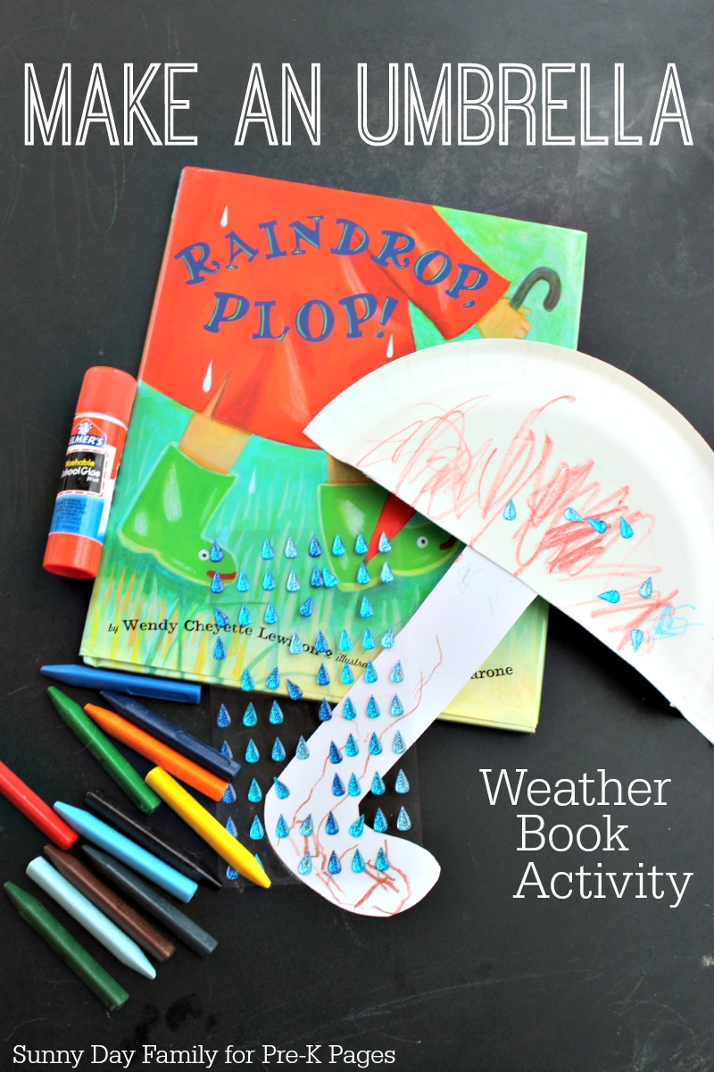 weather craft ideas for preschoolers make an umbrella weather activity 7318