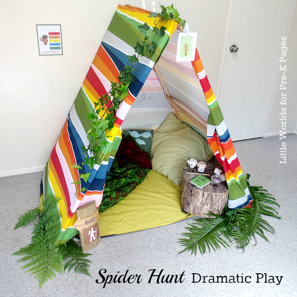 spider hunt dramatic play