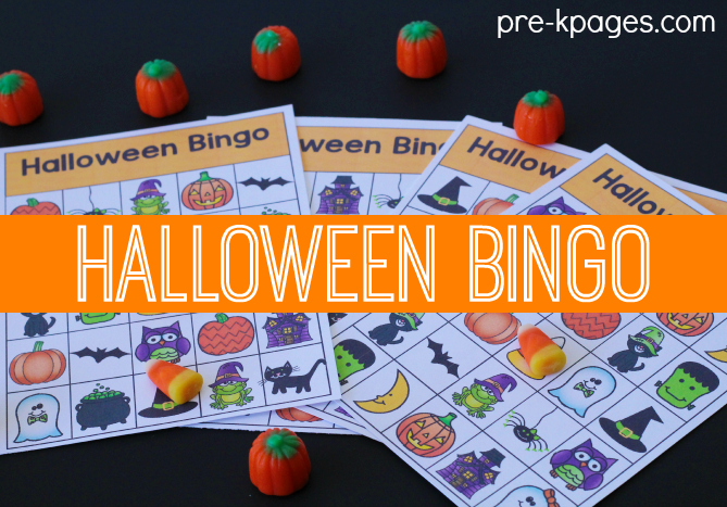 printable halloween bingo game - Preschool Halloween Bingo