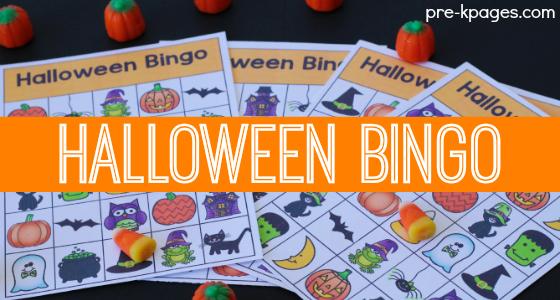 Halloween Bingo Game for Preschoolers
