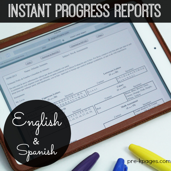 Instant Progress Reports for Preschooler with ESGI