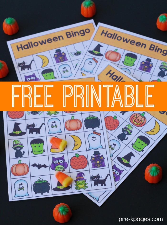 printable halloween bingo game for preschool and kindergarten - Preschool Halloween Bingo