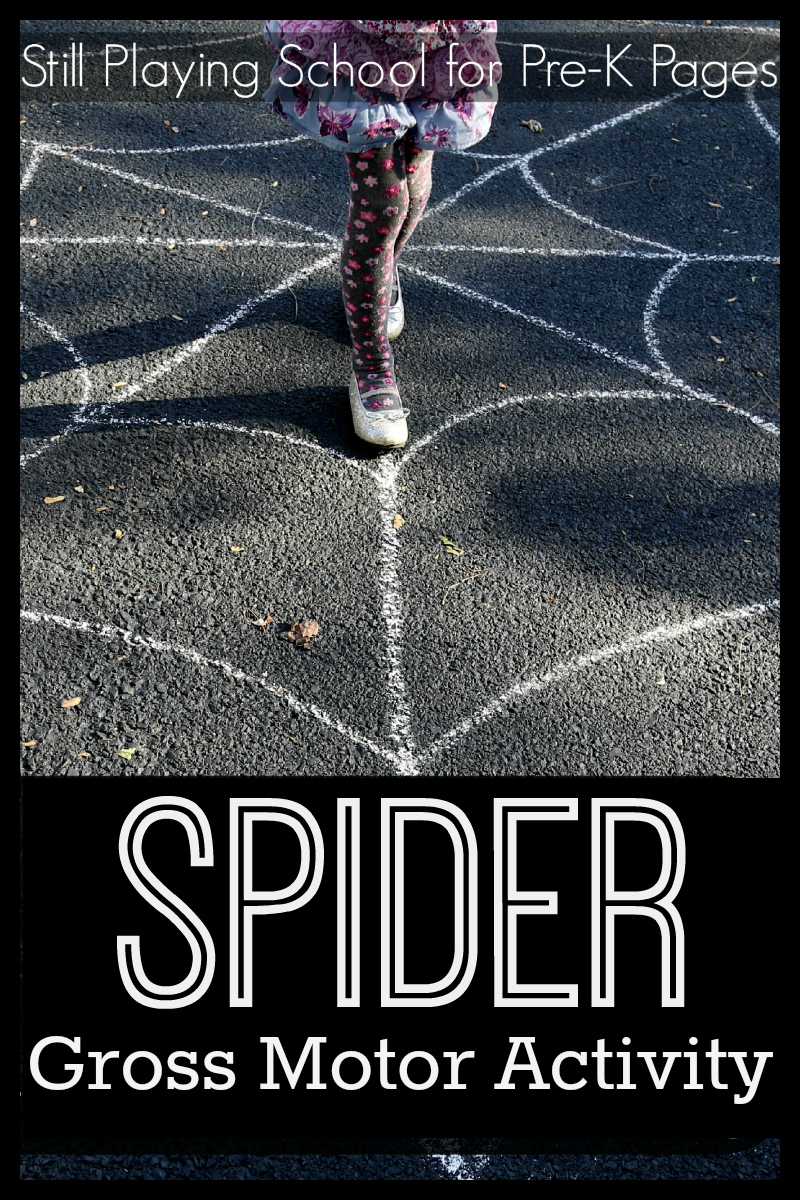 Spider theme gross motor play for Large motor skills activities for preschoolers