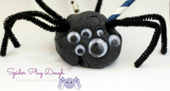 Spider Play Dough Invitation