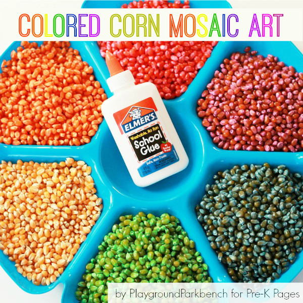 Colored Corn Mosaic Art Pre K Pages