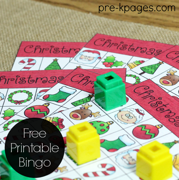 printable christmas bingo pre k pages