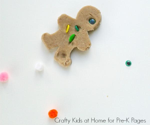 gingerbread man play dough for preschool