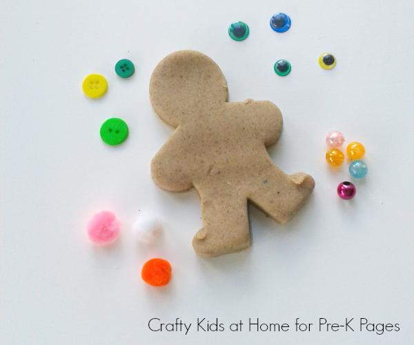 gingerbread man play dough