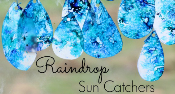 Raindrop Suncatchers Fine Motor Art