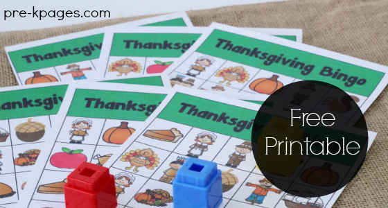 Printable Thanksgiving Bingo Game for Kids