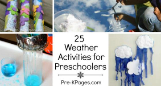 weather activities for preschoolers