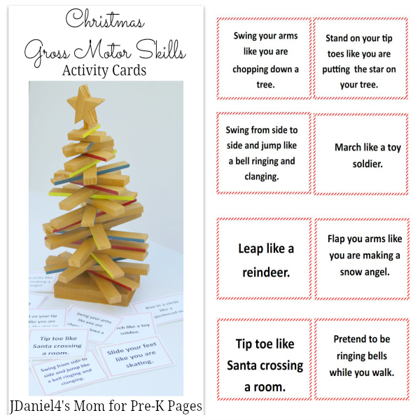 Christmas gross motor game pre k pages for Christmas gross motor activities