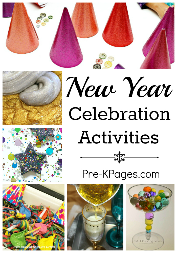 New year celebration activities pre k pages for New year s crafts for preschoolers