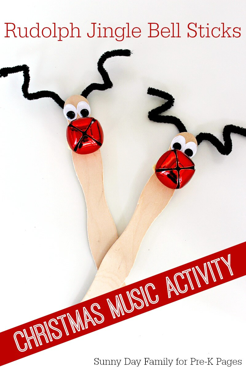reindeer jingle bell sticks for preschool