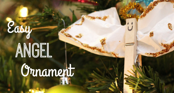 Easy Christmas Angel Ornament Craft