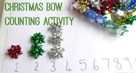Christmas Bow Counting Activity