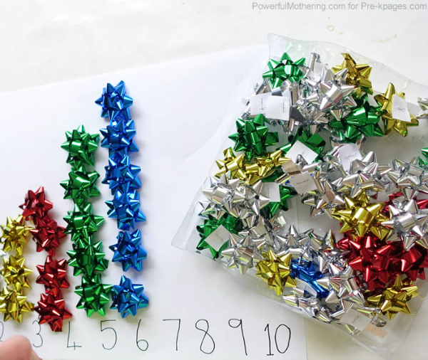 christmas item counting activity