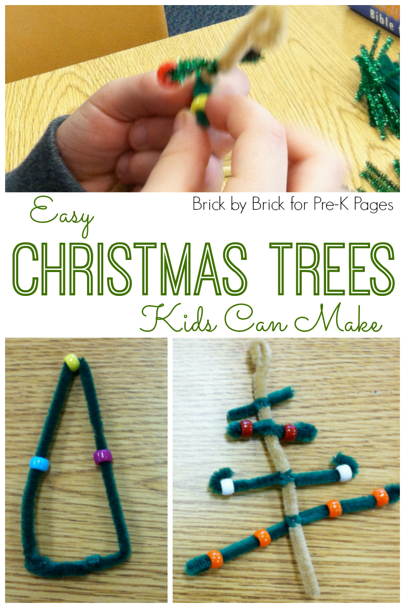 Easy Christmas Trees Ornaments - Pre-K Pages