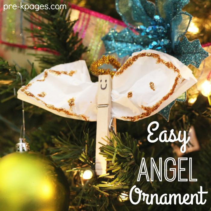 Angel Ornament Craft for Preschoolers