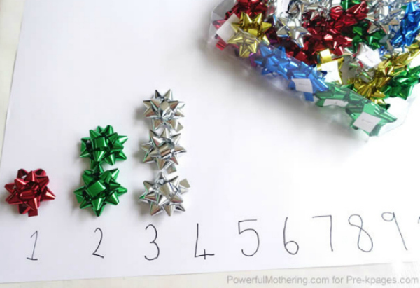 easy christmas counting activity