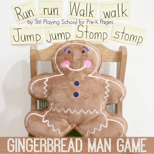 Juegos de verbos de acción con el Gingerbread Man