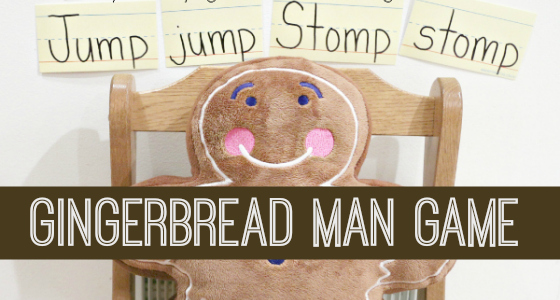 gingerbread man gross motor