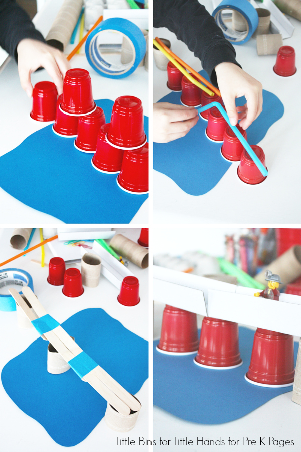 Building Bridges with Cups and Popsicle Sticks