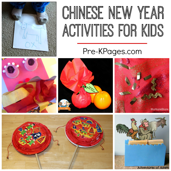 10 ideas for chinese new year pre k pages for New year s crafts for preschoolers