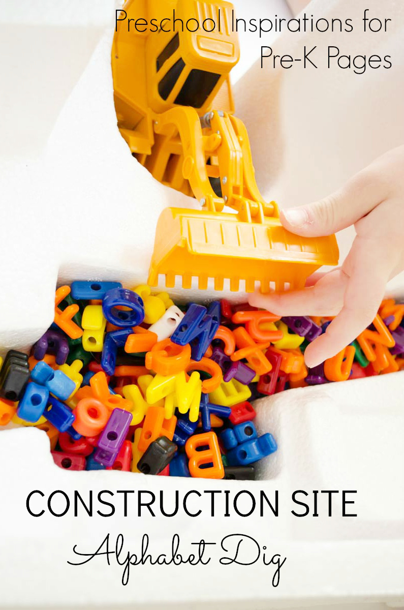 Construction Site Alphabet Dig for preschool