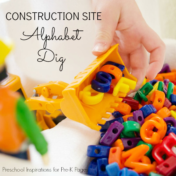 Construction Site Alphabet Dig