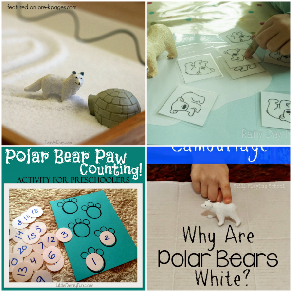 Polar Bear Games and Activities for Preschoolers
