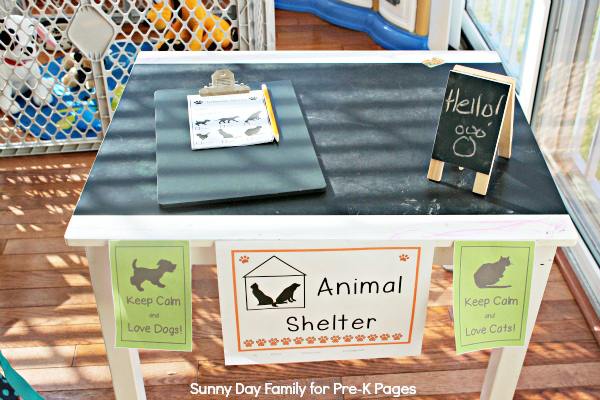Animal Shelter Dramatic Play Pre K Pages