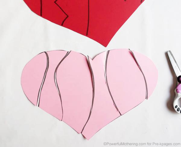 Valentine Heart Puzzles - Pre-K Pages