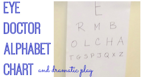 Eye Doctor Alphabet Activity