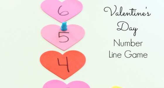 number line game for valentines