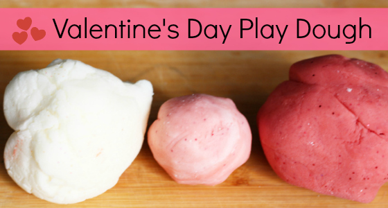 Valentine Play Dough Activity