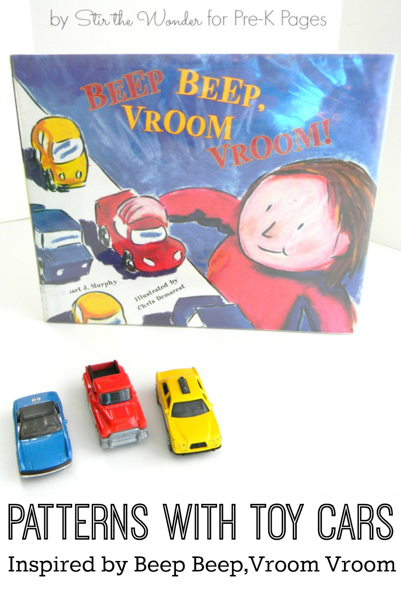 Preschool Transportation Toys : Making patterns with cars pre k pages