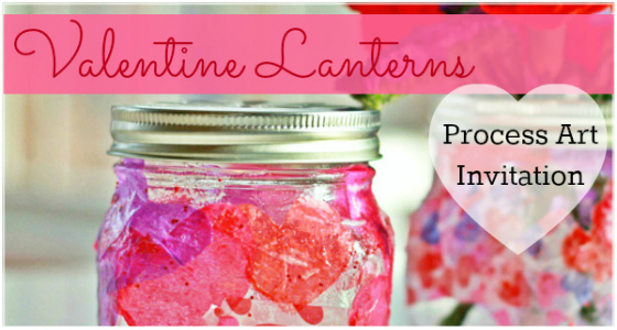 Valentine Lantern process art