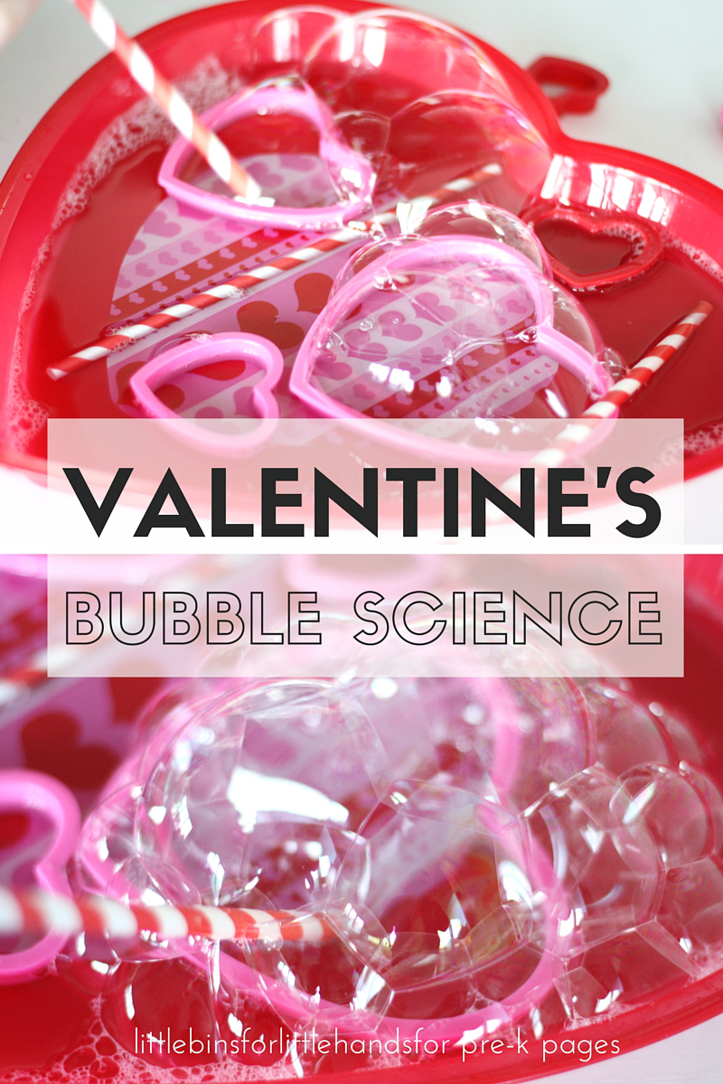 Valentines Day Bubble Science Activity
