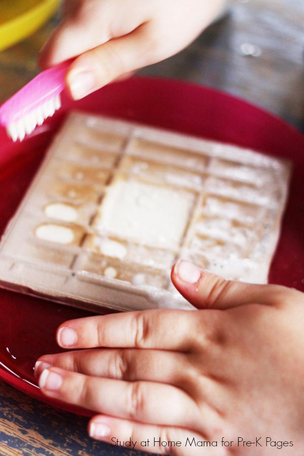 dental health brushing tile